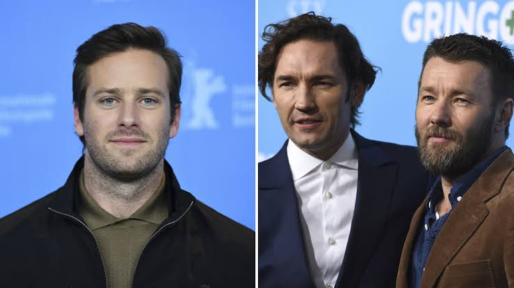 Armie Hammer, Nash and Joel Edgerton